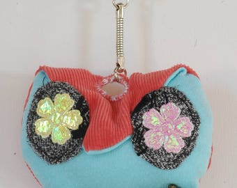 OWL Keychain made of fabric