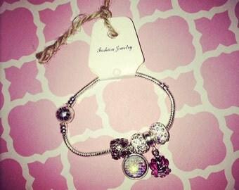 Pink Mermaid charm bracelet