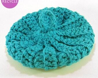 Cotton Tawashi recycled turquoise 13 cm