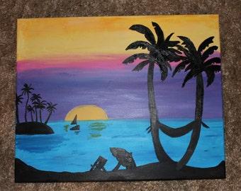 Sunset Breeze Painting