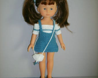 Dress and bag doll 33cm