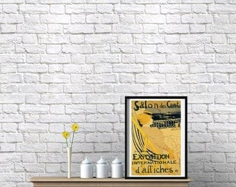 Vintage French Poster Print Original from 1895 Art Toulouse-Lautrec Woman Print Old French Print Poster Paris Print Wall Art Gift for Her