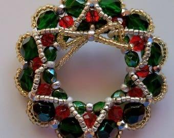 Christmas Wreath Brooch (Pin)