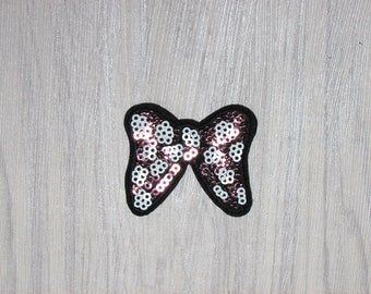 Bowknot sequin patch