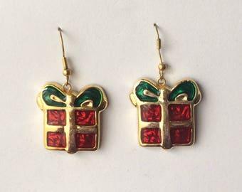 Retro 1970's Fun Kitsch Christmas Gift Dangle Drop Statement Earrings