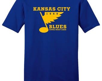 Kansas City Blues 1968 Hockey Tee Shirt