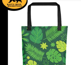 RBPromotions: Green Leafy Tropical Tote bag