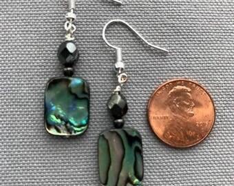 Rectangular Abalone Earrings