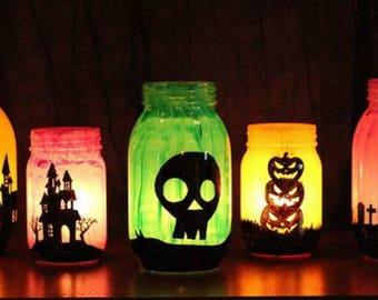 Halloween Mason Jar Luminary