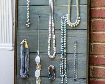 Rustic jewelry display board