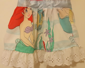 "OOAK Upcycled Princess ""The Little Mermaid"" Tee Shirt Dress"