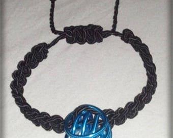 Black shamballa bracelet with beads