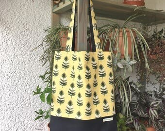 Two-side Shopper/Tote bag/Shopping bag Palm leaves