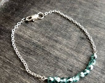 Czech Glass Chain Bracelet