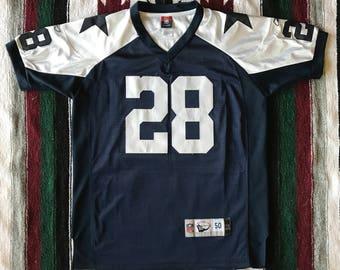 Reebok NFL Dallas Cowboys Felix Jones Embroidered Throwback Football Jersey Size 50