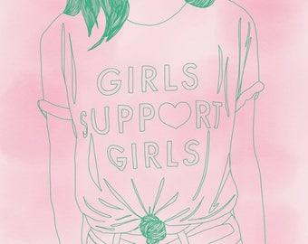 girls support girls print