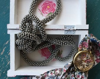 Decoupage Vintage Rose Jewelry Box