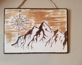 Wood wallhanging