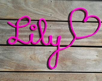 My knitting initials + my heart