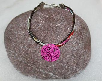 La Droguerie, Frou Frou, Liberty print bias bracelets with flower or circular filigree connectors