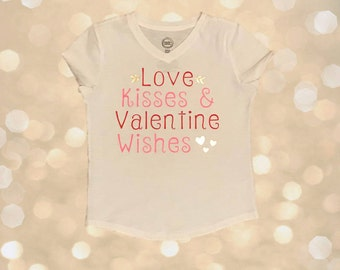 Love Kisses and Valentine Wishes Tee