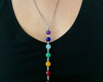 Chakra bead pendant