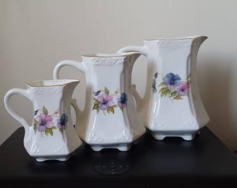 Set of three Fenton China Company Jugs
