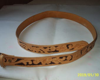 Real cowhide leather belt