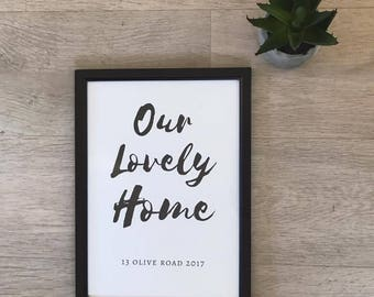 A4 Home Decor Print
