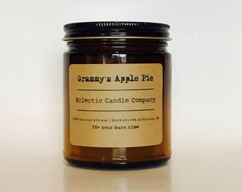 Grammy's Apple Pie Natural Soy Candle