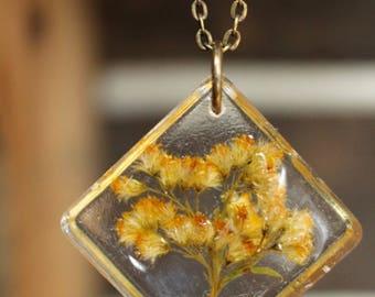 Golden Rod Diamond Shaped Pendant