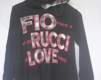 Vintage Fiorucci Hoodie//Italian Designer//Extra big Logo//Made in Japan
