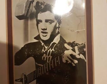 Elvis Presley singed photo and autentication plus original receipt framed