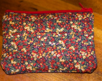 Liberty of London Print Quilted Zipped Purse/Pouch