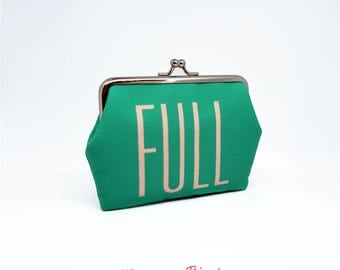F004 // FULL OF JOY Frame Purse - Mini Wallet - Card Case - Coin Pouch
