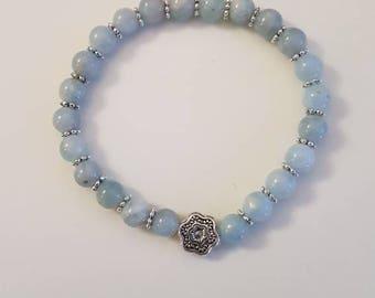Navy bracelet aquamarine