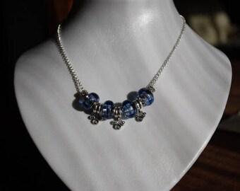 Purple Bead Necklace.