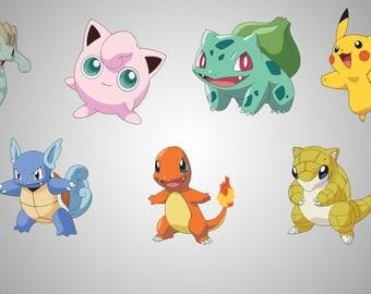 Pokemon ClipArt, SVG , png 300 ppi , jpg , disney , printables , instant download