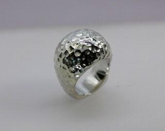 Custom hand made Golf Pattern Ring