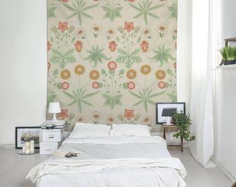 Wall Tapestry, William Morris print, Floral Decor, Daisy Flowers,  Room Decor, Wall Print, Art