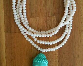 Buddha necklace mala beads zen style