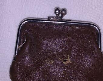 Small Victorian leather purse.