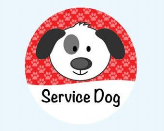 Service Dog Button - Service Dog in Training Button - Therapy Dog Button - Dog ID Tag - Service Animal Patch - Service Dog Pin