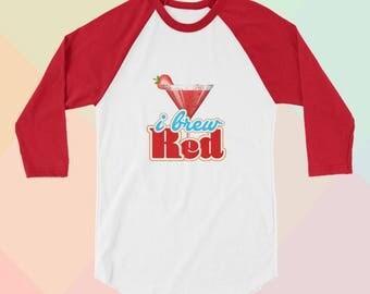 RED VELVET Brew Red Reveluv Kpop Raglan Graphic Shirt