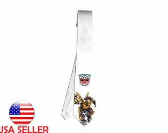 Transformers Autobots Bumblebee Necktie Neck Tie Men Movie Boy Halloween Cosplay