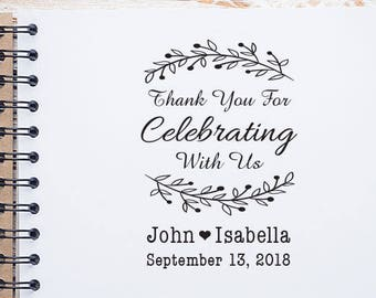 Save the Date Wedding Stamp, Thank You Wedding Stamp, Thank You Wedding Stamp, Wedding Favor, RSVP Wedding Stamp