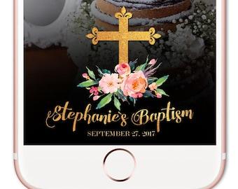 Snapchat filter birthday, Baptism Snapchat Filter, Baptism Snapchat Geofilter, Christening Snapchat Geofilter, Snapchat Birthday, Filter
