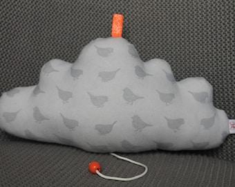 Cotton bird personalized cloud music box