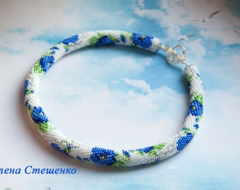 Blue Poppies necklace