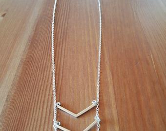 multi Chevron necklace